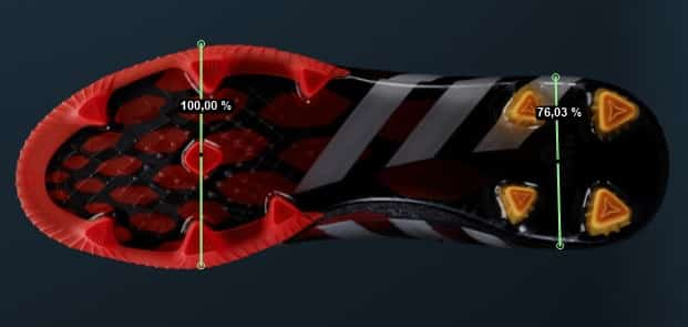 forme-pied-adidas-predator-instinct