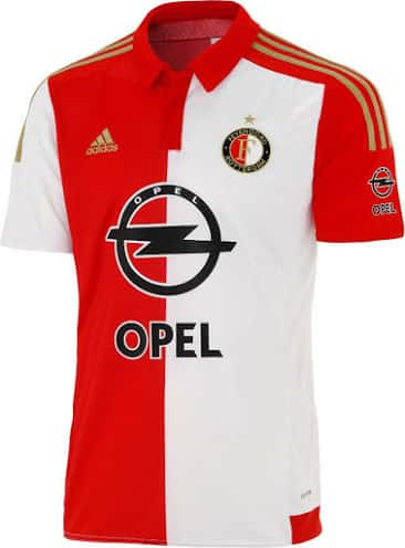 Découvrez les nouveaux maillots domicile et extérieur du Feyenoord Rotterdam pour la saison 2015-2016.