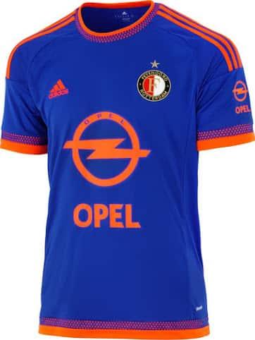 Découvrez le nouveau maillot extérieur du Feyenoord Rotterdam pour la saison 2015-2016.