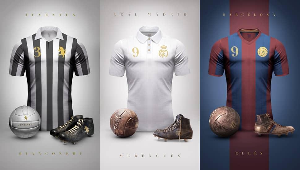 Emiliano Sansolini a créé une série de maillots de football vintage. Une idée géniale qui nous permet de découvrir de magnifiques maillots.