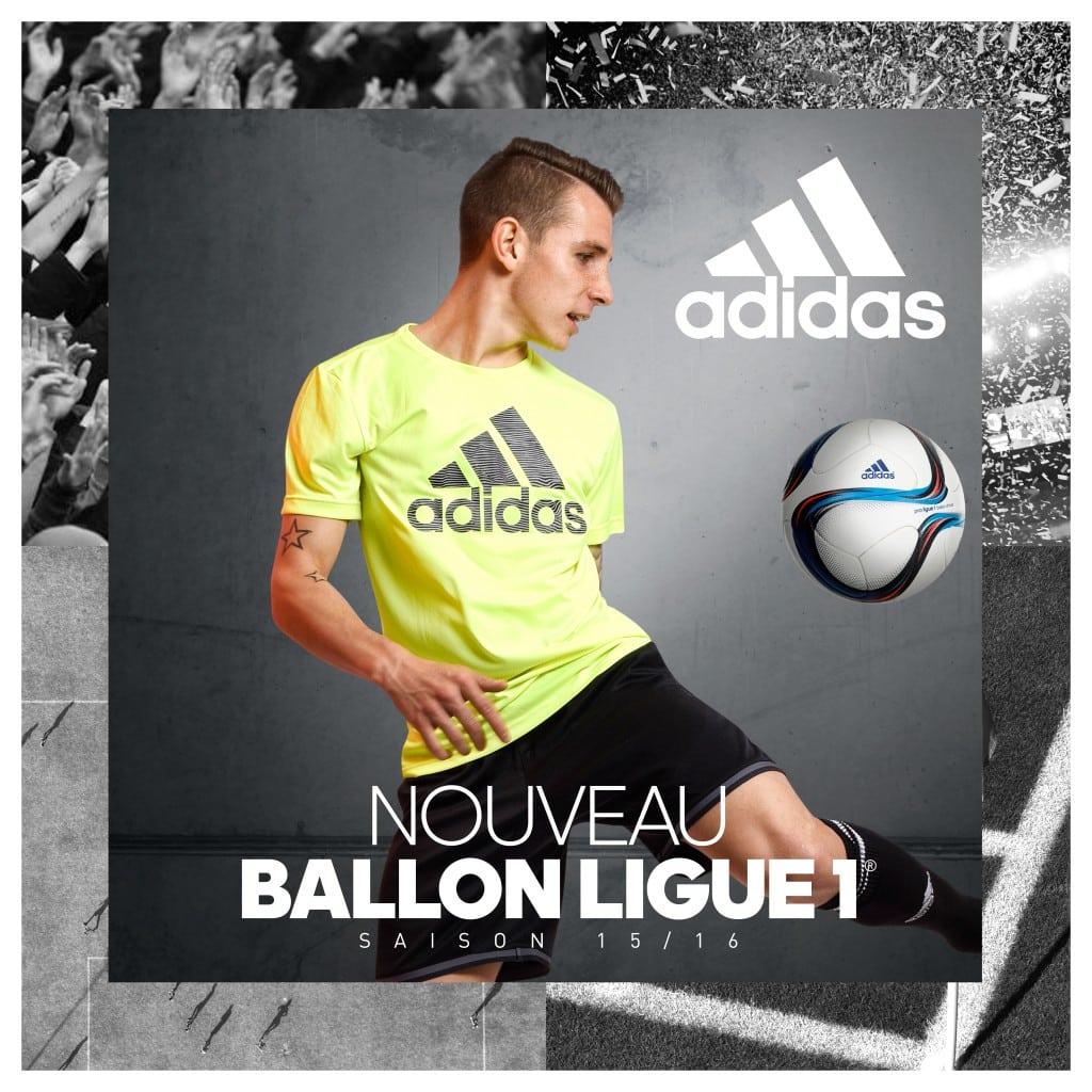 Alors que la saison 2014-2015 vient de se cloturer, adidas qui est l'équipementier du championnat de France de Ligue 1 vient de dévoiler le ballon officiel.
