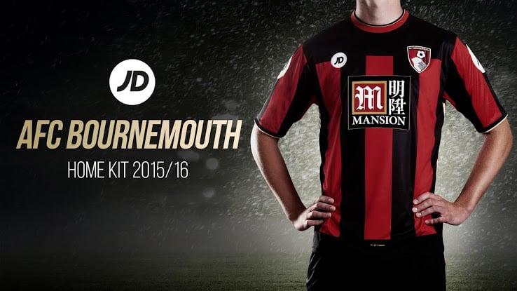 Maillot domicile Bournemouth 2015-2016