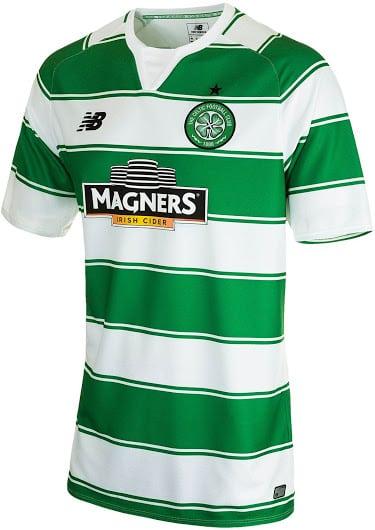 Après Liverpool et Stoke City, New Balance vient de dévoiler le nouveau maillot domicile du Celtic de Glasgow pour la saison 2015-2016.