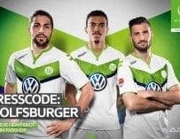 Le maillot domicile 2015-2016 de Wolfsbourg