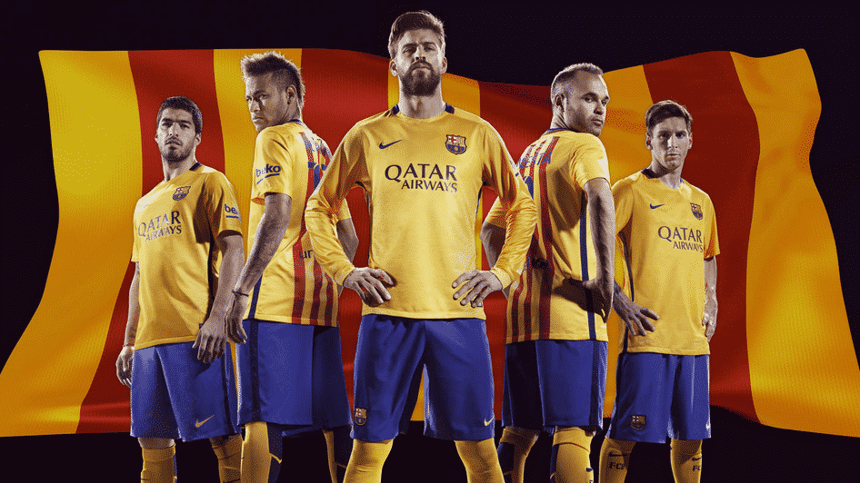 Nike d voile les maillots 2015 2016 du fc barcelone for Maillot barcelone exterieur