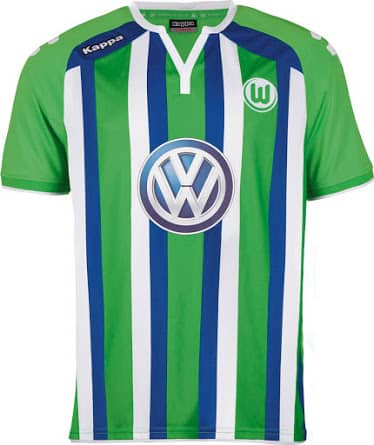 2ème de la Bundesliga cette saison, Wolfsbourg vient de dévoiler ses nouveaux maillots pour la saison 2015-2016, équipé par Kappa.