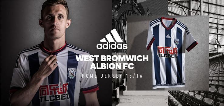 Maillot domicile West Bromwich Albion 2015-2016