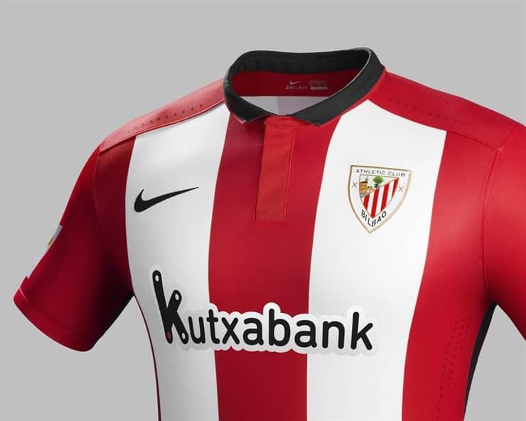 Equipé par Nike, l'Athletic Bilbao vient de dévoiler son nouveau maillot domicile pour la saison 2015-2016