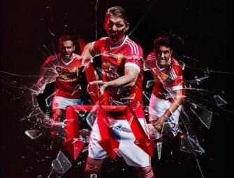 Les maillots 2015-2016 de Manchester United par adidas