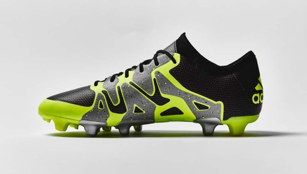 chaussure-football-adidas-X15-noir-jaune-argent-2