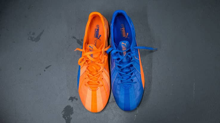 puma evospeed bleu orange