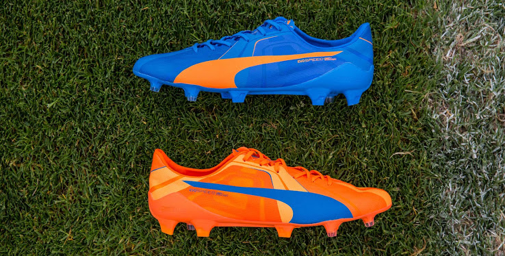 chaussure-puma-evospeed-orange-bleu-2015-2016