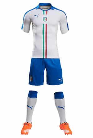 A quelques mois du début de l'Euro 2016 qui se déroulera en France, Puma vient de dévoiler le nouveau maillot extérieur de l'Italie.