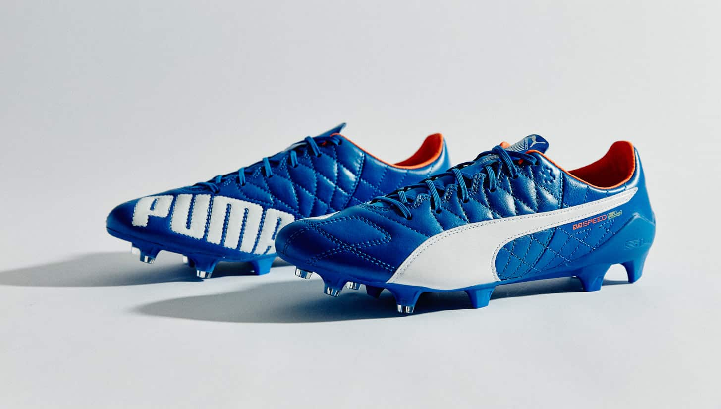 chaussure-football-puma-evospeed-sl-leather-bleu