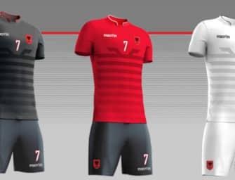 Les maillots de l'Albanie pour l'Euro 2016 par Macron