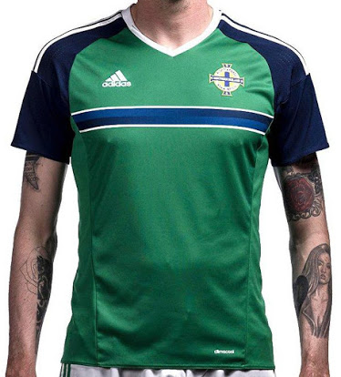 Surprise des éliminatoires, l'Irlande du Nord participera à l'Euro 2016 et vient de dévoiler avec adidas ses nouvelles tenues.