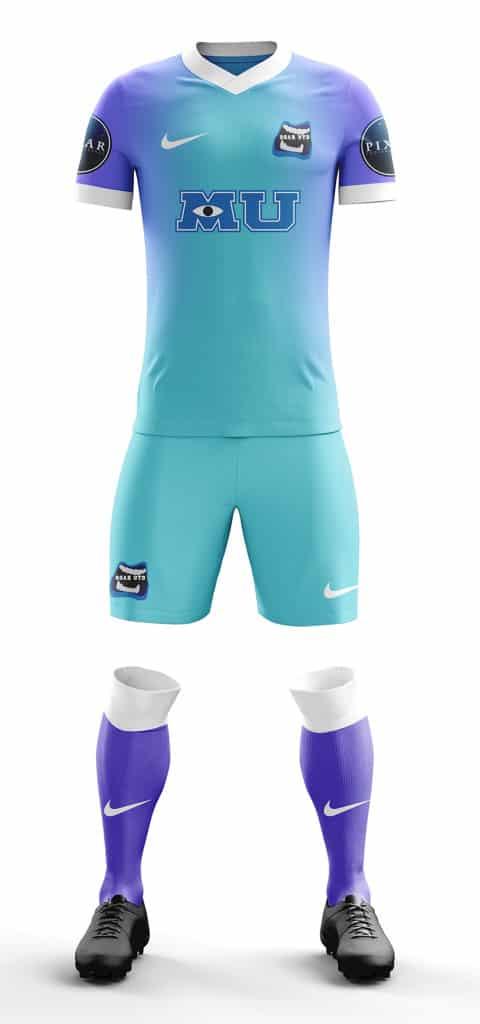 Et si Pixar se lançait dans le football ? C'est ce que Martin Turner a imaginé avec ces maillots de football.