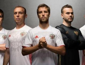 Les maillots de la Russie pour l'Euro 2016 par adidas