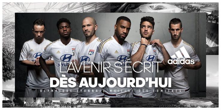 adidas et l'Olympique Lyonnais viennent de dévoiler le maillot third de l'OL, que les joueurs porteront lors du 1er match dans le Stade des Lumières en 2016