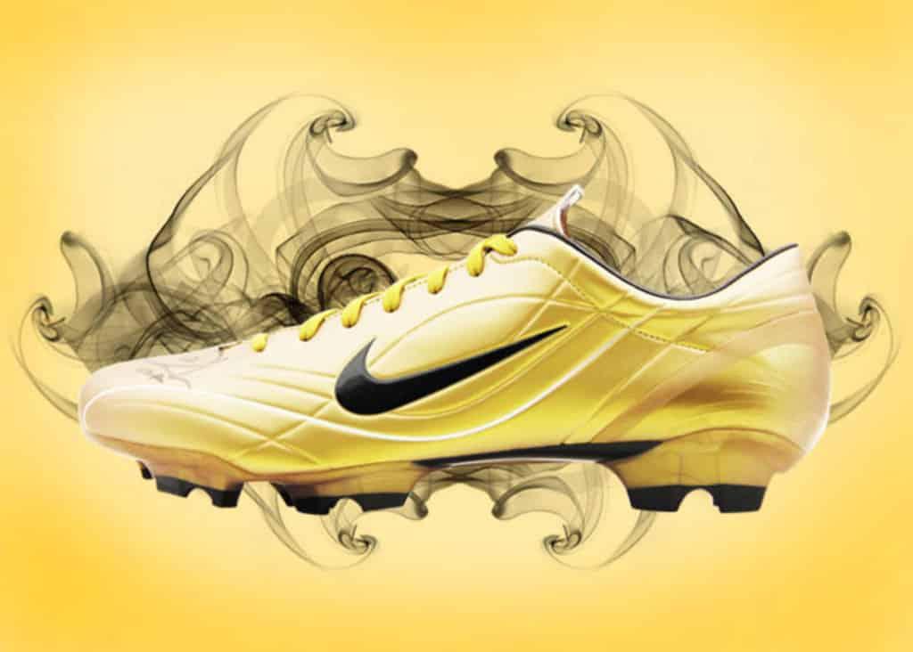 chaussure-football-nike-mercurial-vapor-II-gold