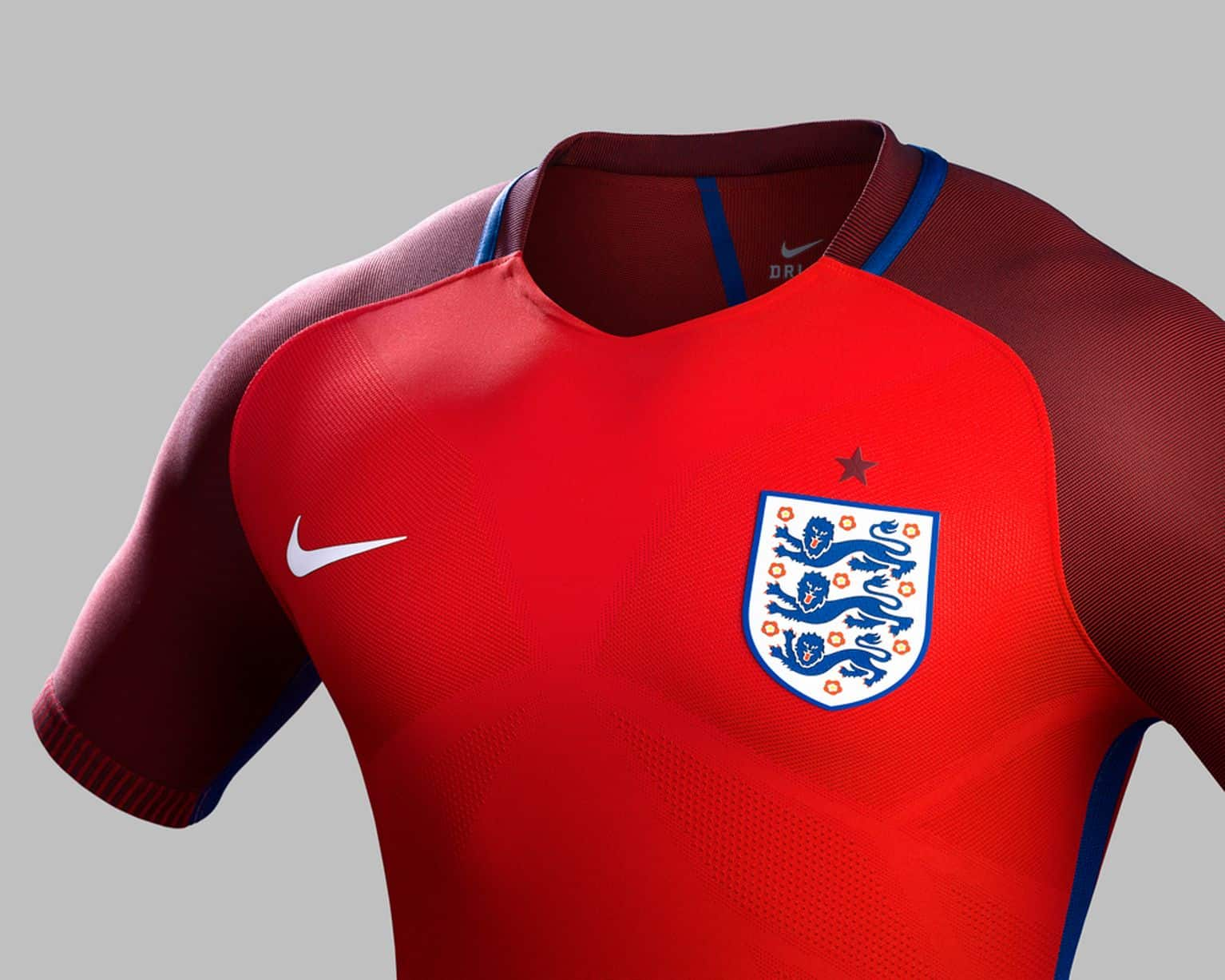 Detail Maillot Angleterre Euro 2016 Exterieur