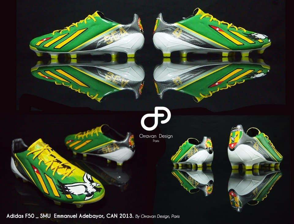 """adidas F50 """"Togo"""" pour Adebayor"""