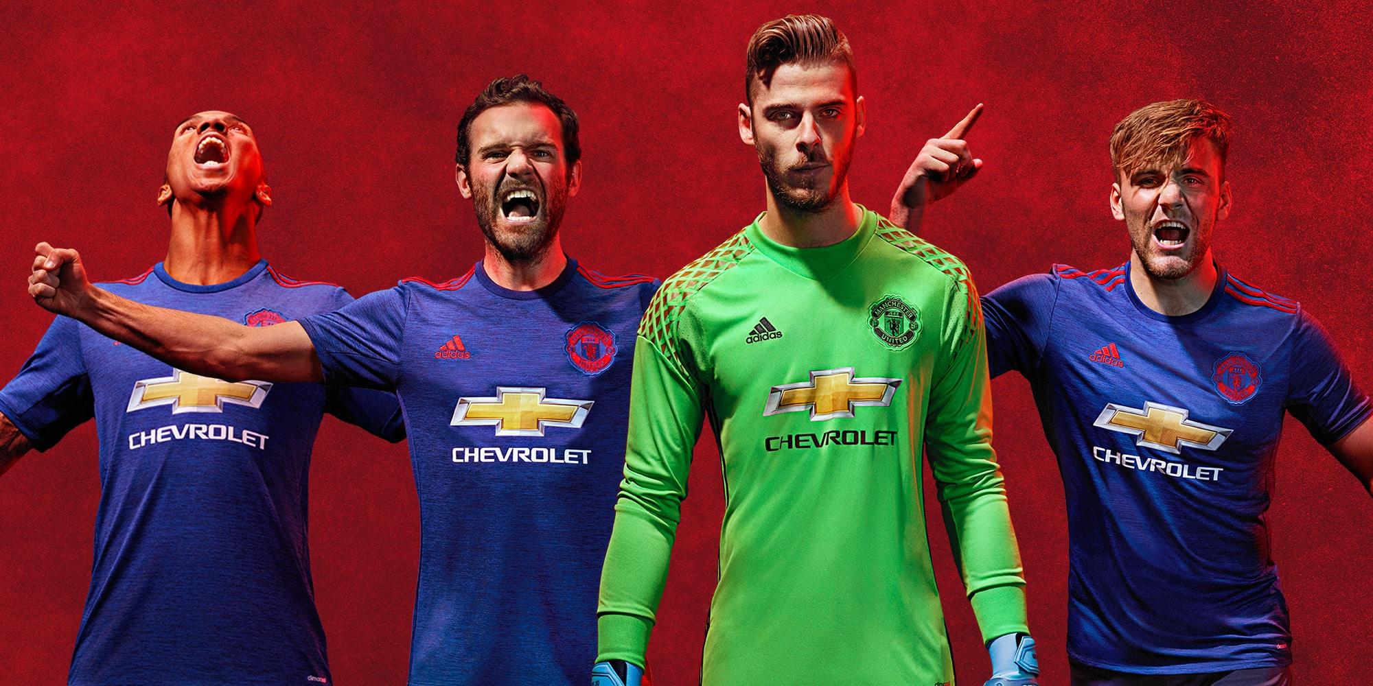 Adidas pr sente le maillot ext rieur 2016 2017 de for Manchester united exterieur 2017