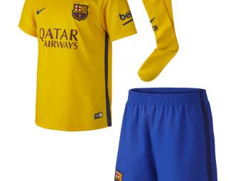 Mini-Kit Extérieur FC Barcelone 2015/2016 ENFANT