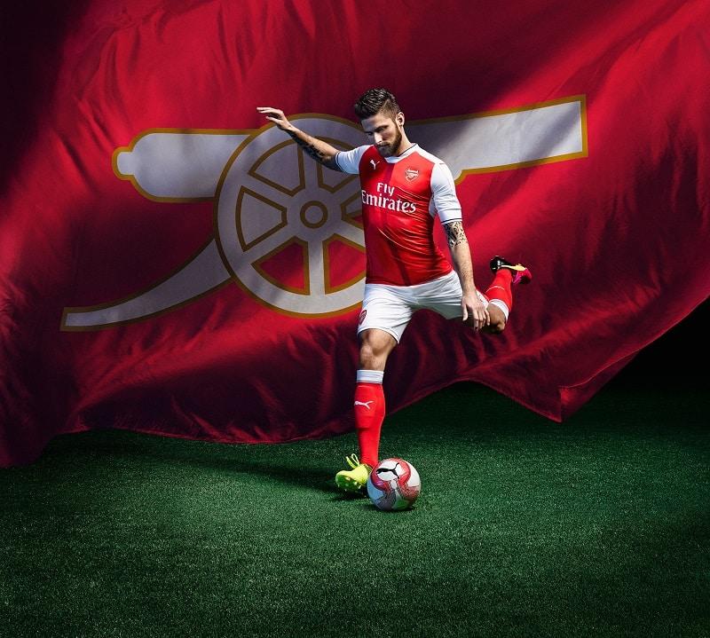 Puma lance les nouveaux maillots 2016-2017 d'Arsenal