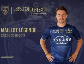 Les maillots 2016-2017 du SC Bastia par Kappa