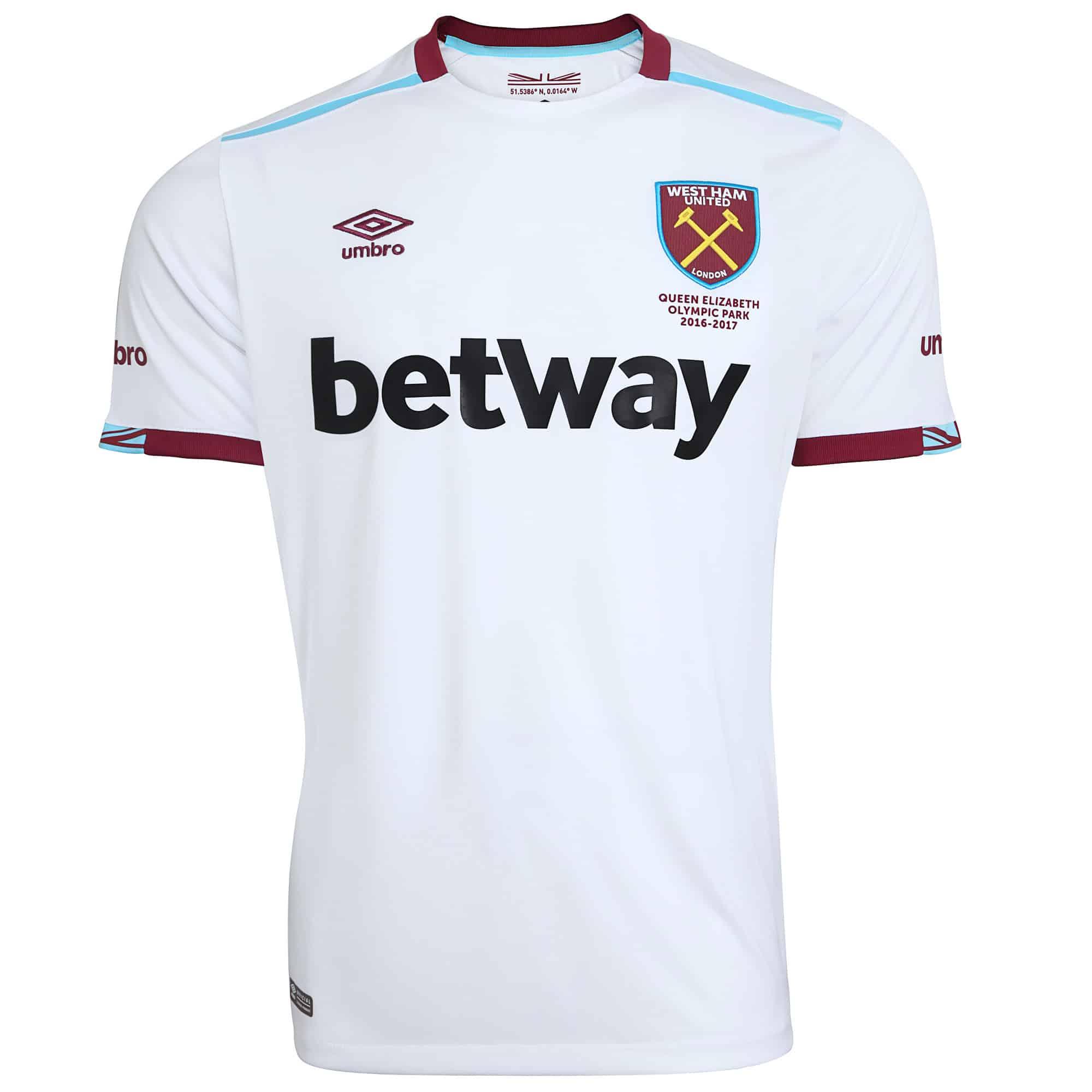 umbro d voile les maillots 2016 2017 de west ham united