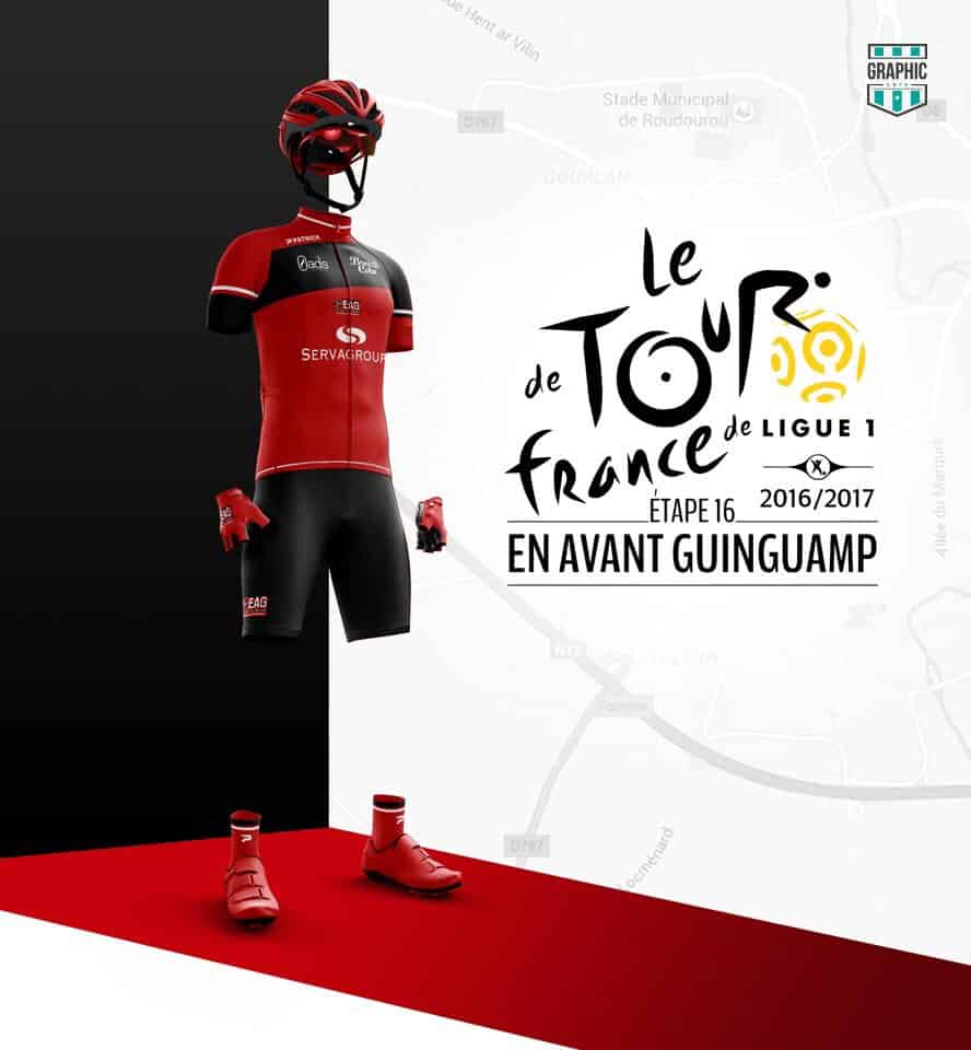 EA Guingamp Maillot Cyclisme Graphic UNTD Ligue 1 2016 2016