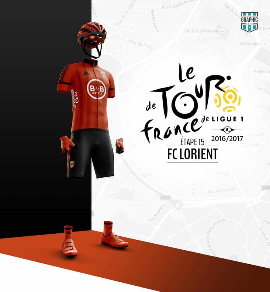 FC Lorient Maillot Cyclisme Graphic UNTD Ligue 1 2016 2016
