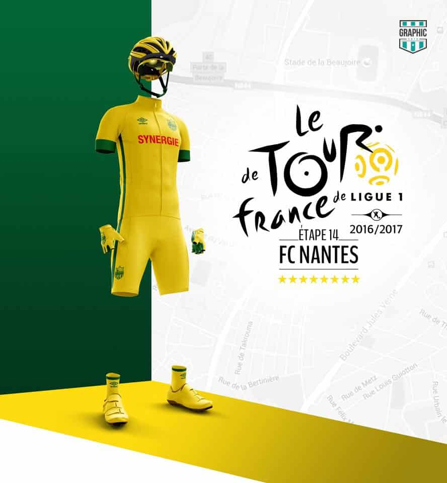 FC Nantes Maillot Cyclisme Graphic UNTD Ligue 1 2016 2016