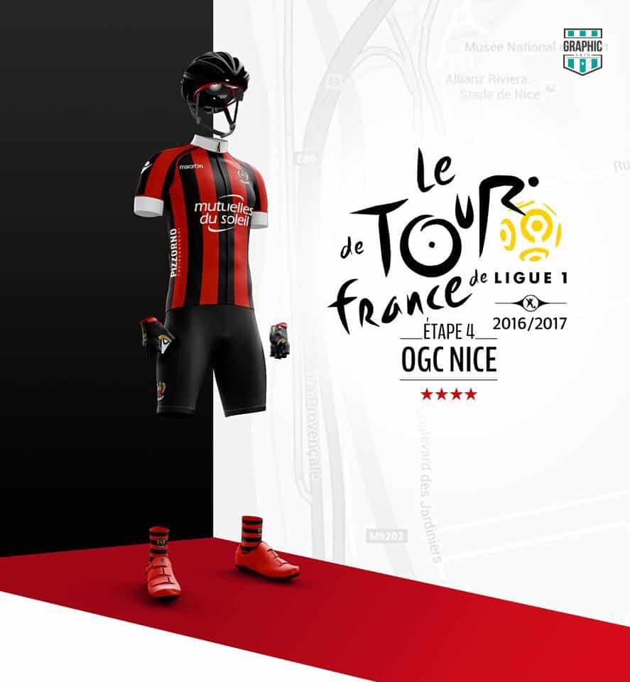 OGC Nice Maillot Cyclisme Graphic UNTD Ligue 1 2016 2016