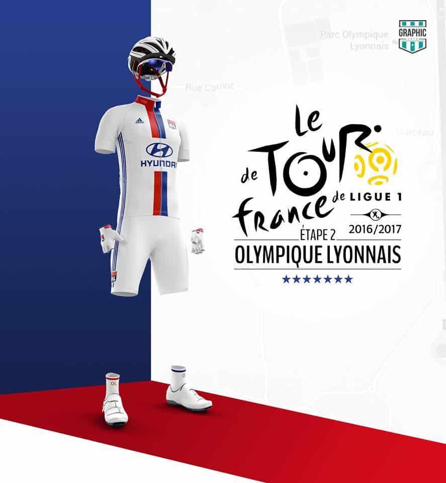 Olympique Lyonnais OL Maillot Cyclisme Graphic UNTD Ligue 1 2016 2016
