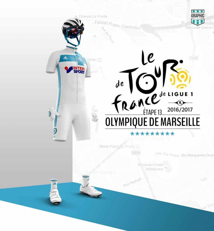 Olympique de Marseille Maillot Cyclisme Graphic UNTD Ligue 1 2016 2016