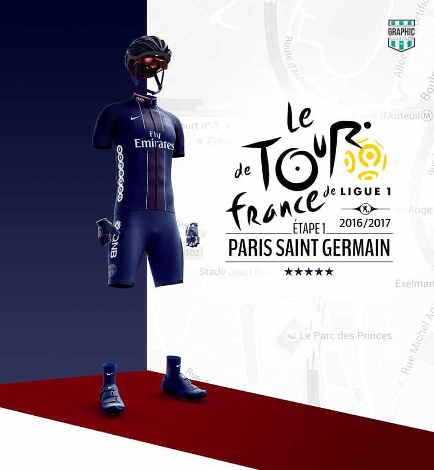 Paris SG PSG Maillot Cyclisme Graphic UNTD Ligue 1 2016 2016