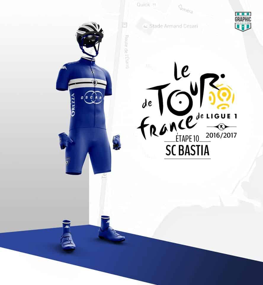 SC Bastia Maillot Cyclisme Graphic UNTD Ligue 1 2016 2016