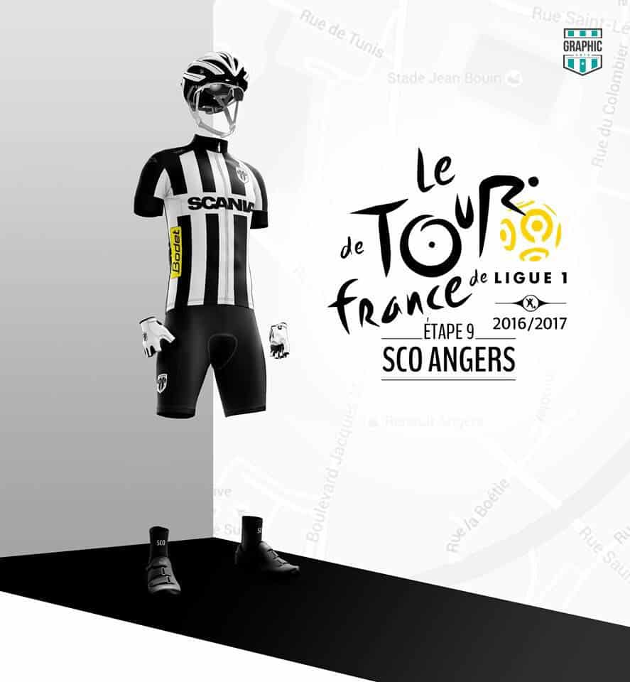 SCO Angers Maillot Cyclisme Graphic UNTD Ligue 1 2016 2016