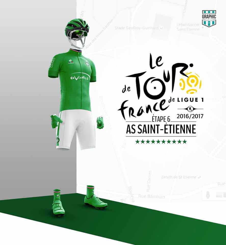 Saint Etienne ASSE Maillot Cyclisme Graphic UNTD Ligue 1 2016 2016