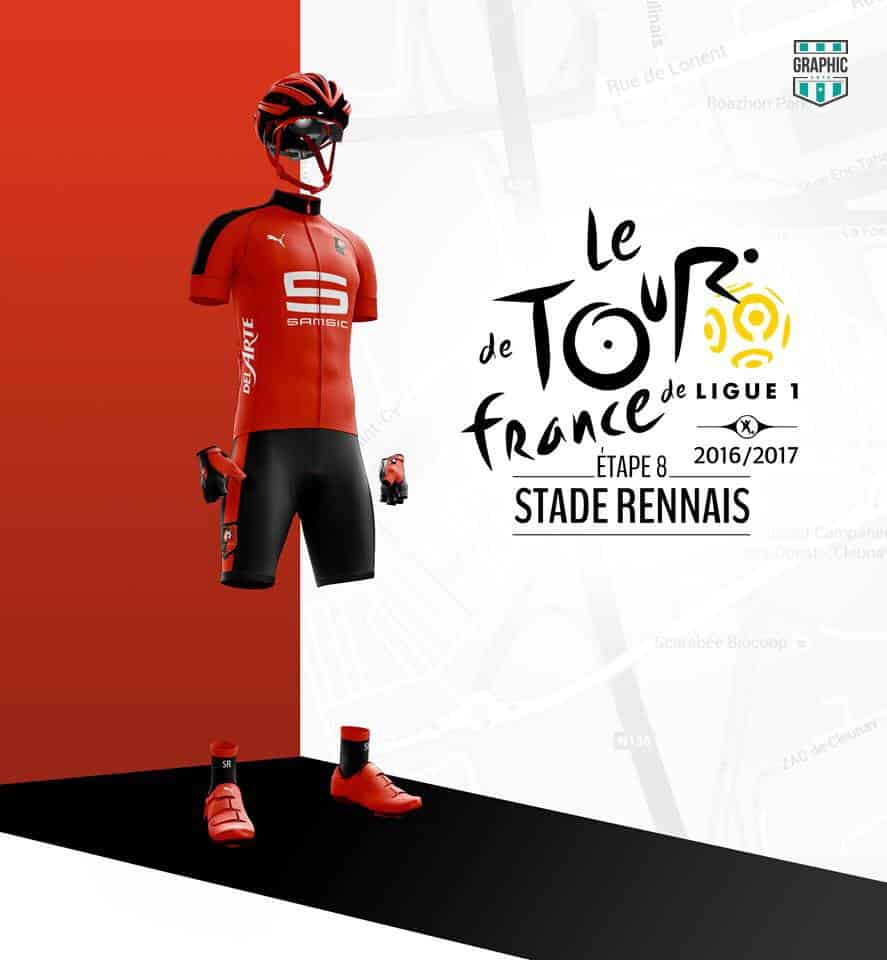 Stade Rennais Maillot Cyclisme Graphic UNTD Ligue 1 2016 2016