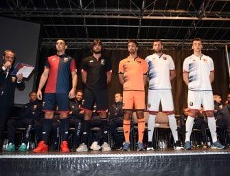 Les nouveaux maillots 2016-17 du Genoa par Lotto