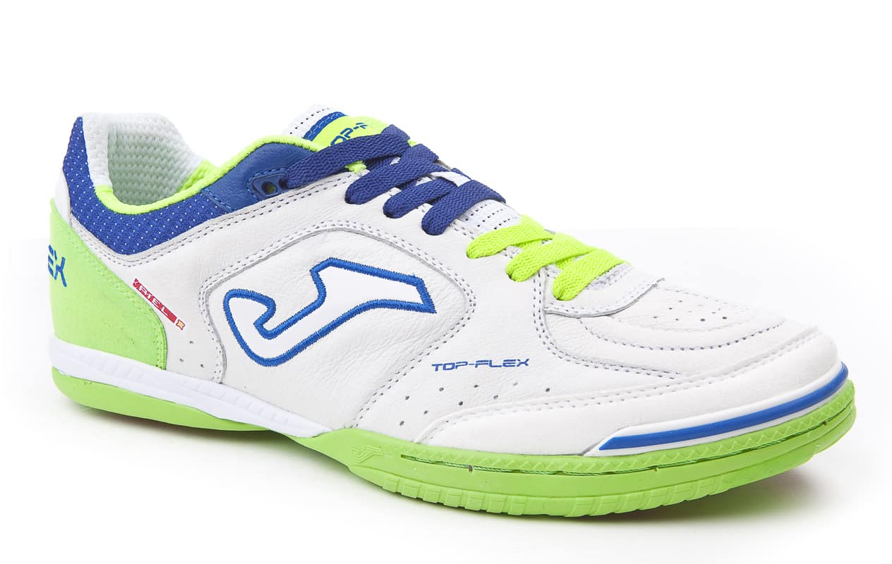 chaussures-futsal-joma-top-flex-white-green