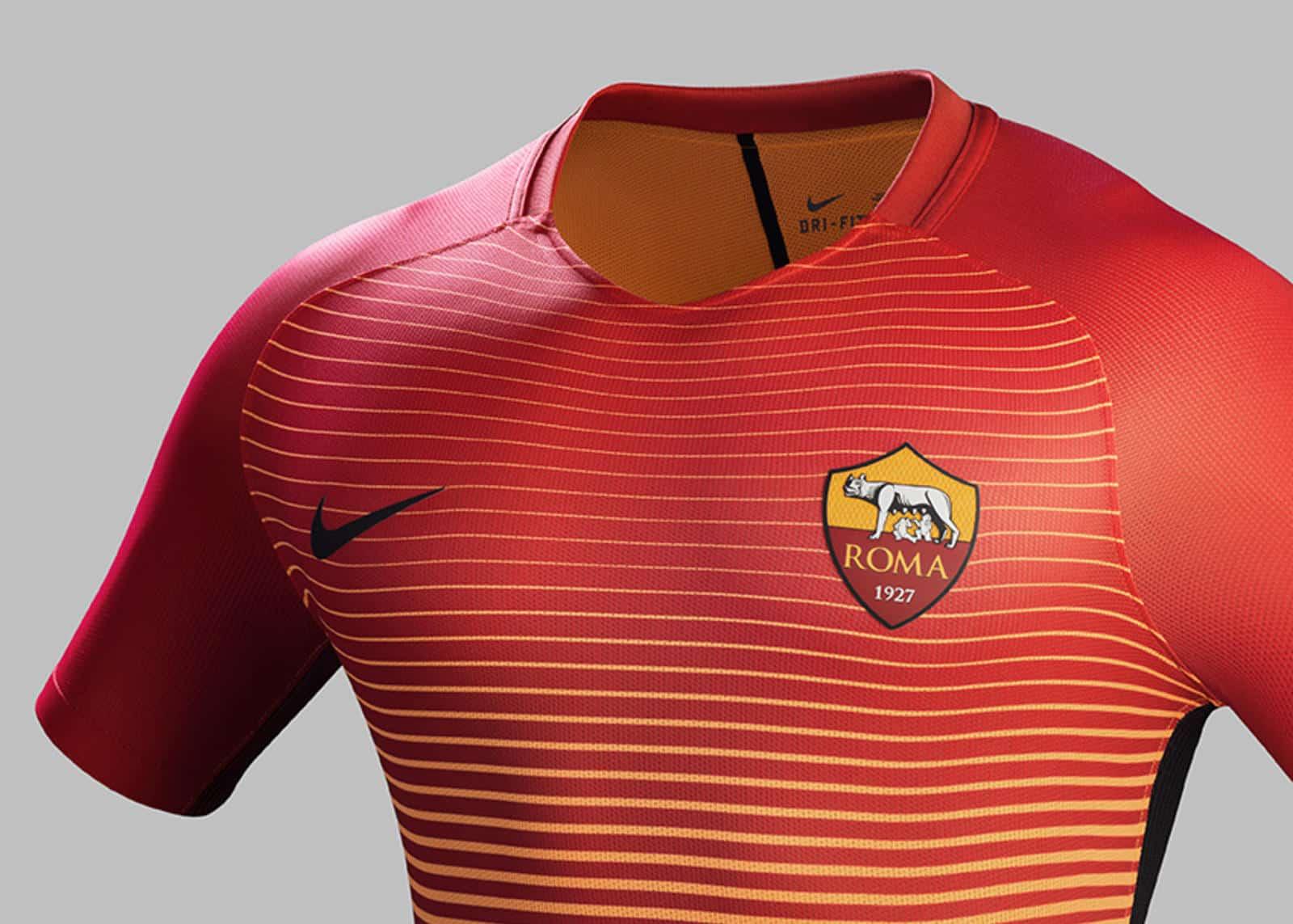 L 39 as rome pr sente ses maillots 2016 2017 sign s nike - Moacasa 2017 roma ...