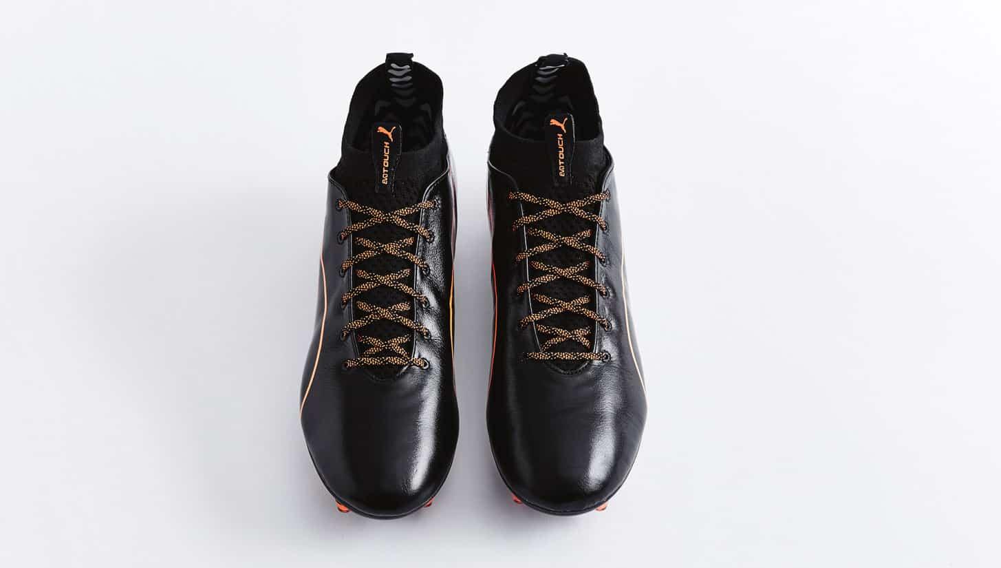 chaussures-football-puma-evotouch-noir-orange-1