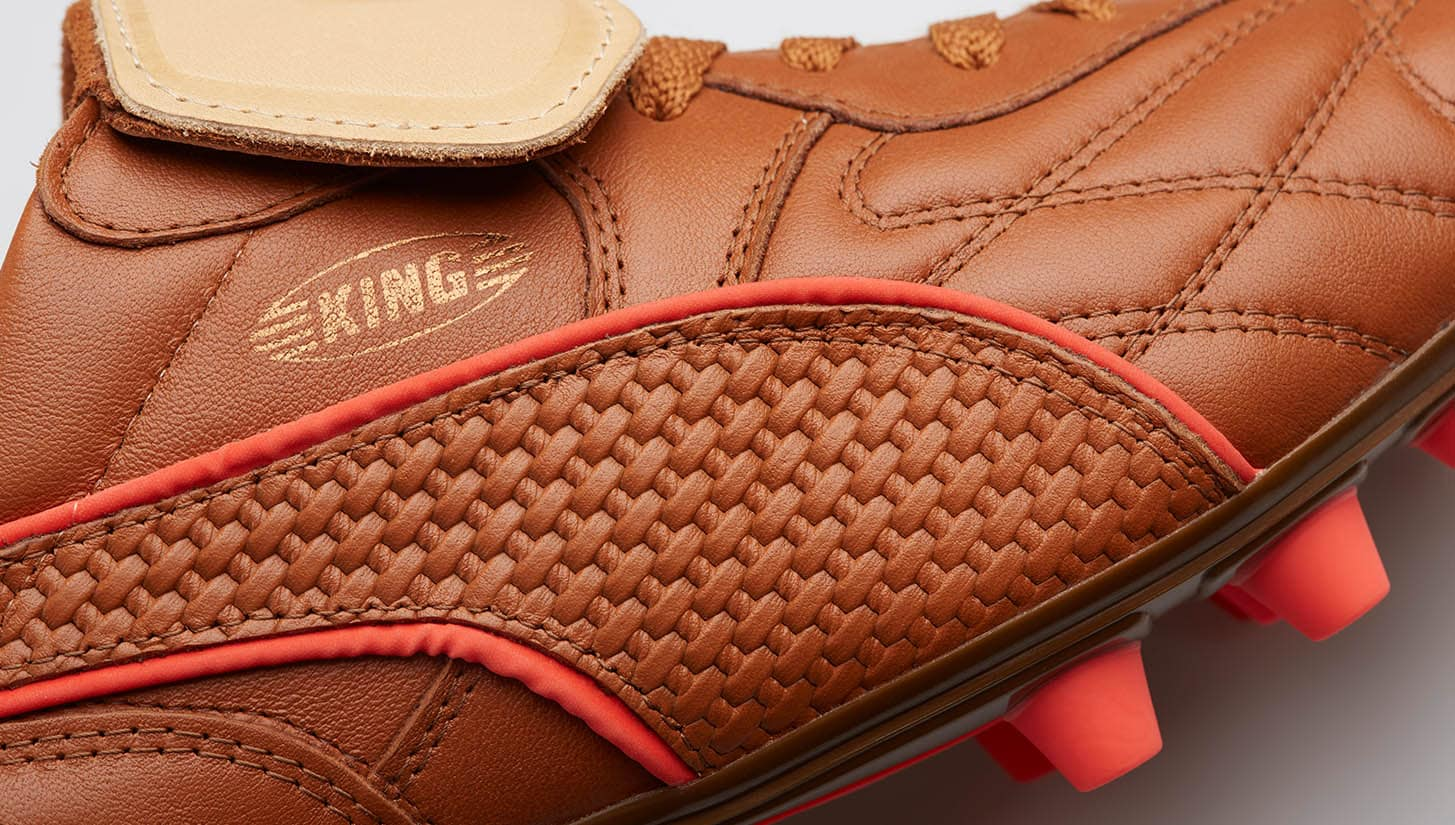 chaussures-football-puma-king-made-in-italy-marron-img1