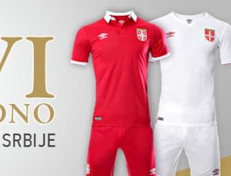 Umbro présente les nouveaux maillots de la Serbie