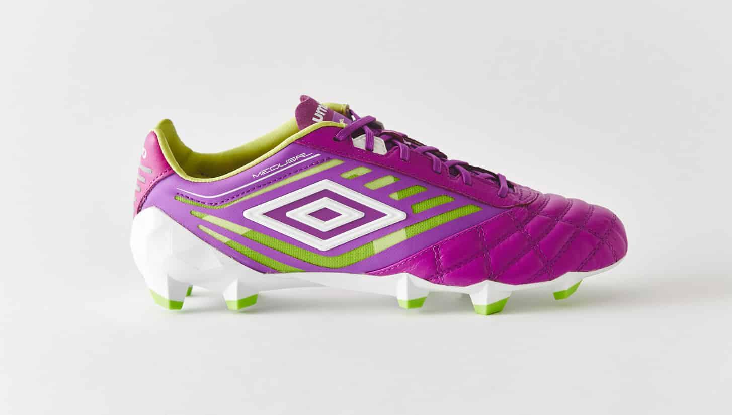 chaussures-football-umbro-medusae-violet-vert-citron-img3