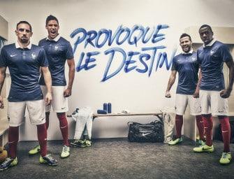 40 ans de maillots de l'équipe de France en Coupe du Monde